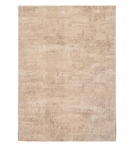 5' x7'  Beige Brown Color Machine Made Persian Polypropylene Abstract Oriental Rug