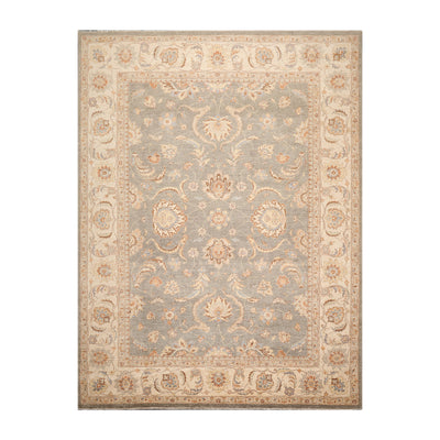 8' 10''x11' 10'' Gray Beige Brown Color Hand Knotted Persian 100% Wool Traditional Oriental Rug