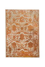 04' 00''x06' 00'' Ivory Beige Orange Color Machine Made Persian style rugs.