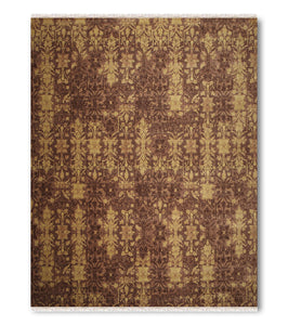 9'x12' Light Brown, Dark Brown, Mustard Green, Multi Color Hand Made Persian Oriental Wool Rug
