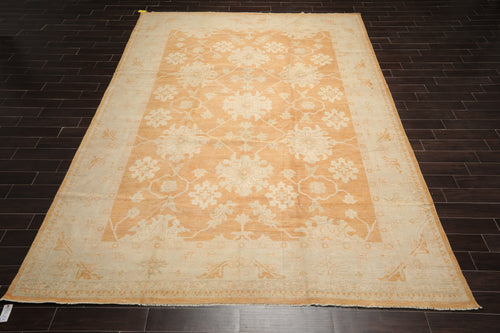 10x14 Hand Knotted Tibetan 100% Wool Antique  Modern & Contemporary Oriental Area Rug Burnt Orange, Gray Color