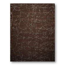 9'x12'  Tone on Tone Brown & Grey Color Handmade Modern Area Rug  Wool & Bamboo Silk