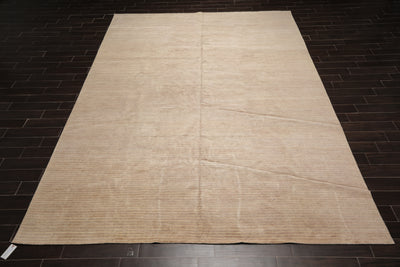10x14 Hand Knotted Tibetan Hemp & Aloe Vera Fibers Modern & Contemporary Oriental Area Rug Beige, Tan Color
