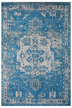 "8' 9""x11' 9"" Blue White Color Hand Woven Micro Printed Polyester Traditional Oriental Rug"