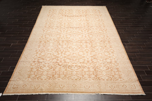 10x14 Hand Knotted Tibetan 100% Wool Antique  Traditional Oriental Area Rug Beige, Caramel Color