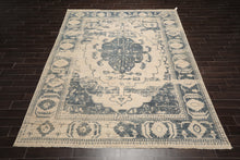 9x12 Hand Knotted 100% Wool Modern & Contemporary Oriental Area Rug Beige, Gray Color