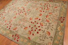 8' x10'  Beige Sage Mint, Grey, Rose, Rust, Multi Color Hand-Tufted Persian Oriental Area Rug 100% Wool  Transitional Oriental Rug