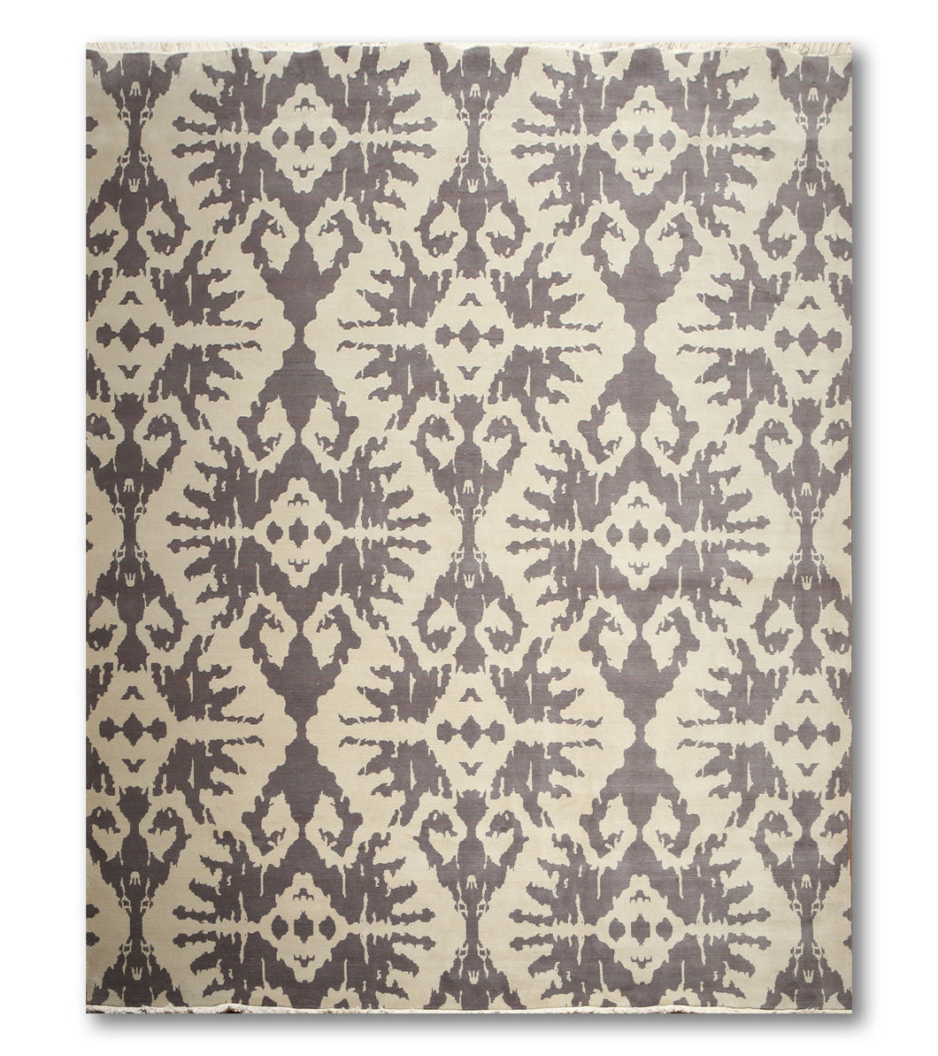 9'x12' Gray, Beige, Multi Color Hand Made Persian Oriental Wool Rug