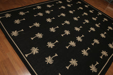 8'x10' Black, Beige Color Machine Made Polypropylene Indoor Outdoor Turkish Dhurry Rug