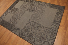 5'x7' Black, Gray, Multi Color Machine Made Polypropylene Indoor Outdoor Turkish Dhurry Rug