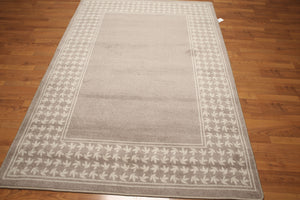 5'x7' Toupe, Ivory, Multi Color Machine Made Polypropylene Indonesian High Density Hand Carved Effect Modern Oriental Rug