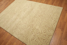 5'x7' Beige, Ivory, Multi Color Machine Made Polypropylene Indonesian High Density Hand Carved Effect Modern Oriental Rug