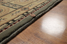 "5'x7'8"" Gray, Beige, Olive Green, Multi Color Machine Made Polypropylene Oriental Rug"