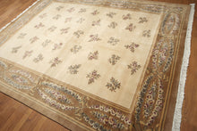 8'x10' Beige, Brown, Tan, Gray, Rose, Multi Color Hand Knotted Tibetan Oriental Wool Rug