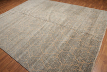 "8'x11'6"" Beige, Blue, Gray, Multi Color Machine Made Persian Oriental Wool Rug"