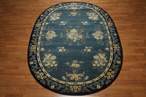 "6'7"" x 9'11"" Oval Made in Spain 100% wool Dense pile Persian Oriental Rug"