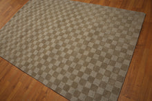 5'x8' Brown Tone on Tone Color Hand Tufted Modern Oriental Wool Rug
