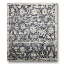 8'x10' Grey, Blue, Aubergene, Beige, Charcoal  Multi Color Hand Knotted Turkish Ikat 100 % Wool Area Rug