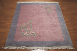 "8'6"" x 11'6"" Hand knotted Chinese Aubusson Savonnerie Area Rug Wool thick pile"