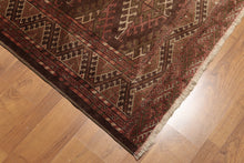 7' x 10' Hand Knotted Afghan Tribal Southwestern Area rug 100% wool foundation