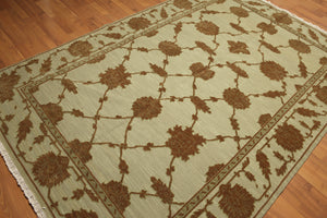 "3'7""x7'9"" Burgundy, Brown, Beige, Rose, Aqua, Multi Color Hand Knotted Semi Antique Iranian Sarab Persian Area Rug"