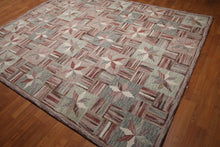 8'x10' Beige, Rust, Gray, Rose, Multi Color Hand Tufted Oriental Wool Rug