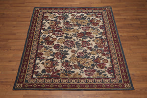 "5'8""x7'8"" Tan, Beige, Rust, Gray, Multi Color Italian Oriental Chenille Rug"