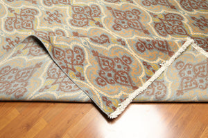 9'x12' Beige, Brown, Aqua, Gold, Multi Color Karastan Look and Quality Hand-Finished Persian Oriental Wool Rug