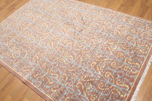 5'x7' Rusty Brown, Blue, Light Gold, Multi Color Machine Made Karastan Look and Quality Persian Oriental Wool Rug