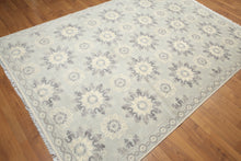 9' x 12' Handmade French Needlepoint Aubusson 100% Wool Area Rug Flat