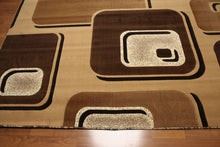 8'x10' Light Brown, Dark Brown, Multi Color Machine Made Rug