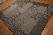 8'x10' Brown, Beige Multi Color Machine Made Polypropylene Indoor Outdoor Turkish Dhurry Rug