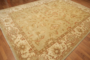 "8'2"" x 11'6"" Hand Knotted 100% wool Turkish Oushak Area rug Veg Dye"