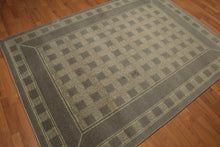 "5'4""x7'8"" Gray, Olive Green, Multi Color Machine Made Polypropylene Indonesian High Density Hand Carved Effect Modern Oriental Rug"