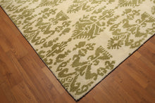 8'x11' Vanilla & Mustard Color Hand Tufted 100% Wool  Area Rug