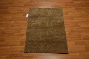 Tufenkian Tibetan Hand Knotted Wool and Silk   (3'x5' )