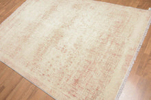 Oriental Area Rug Hand-Knotted Wool Contemporary Industrial Chic (6'x9')