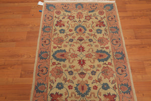 "Oriental Area Rug Hand-Knotted 100% Wool  Traditional Romanian Kashan (3'x4'10"")"