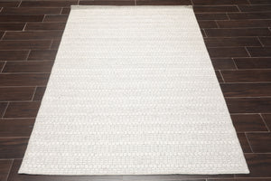 Flatweave Oriental Area Rug Hand Woven Wool Traditional  (4'x6')