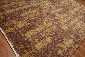 Oriental Hand-Knotted Wool Transitional Botanical (9'x12')