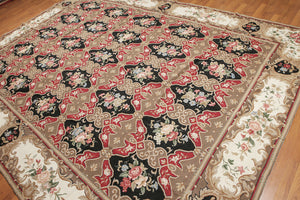 Asmara Needlepoint Aubusson Hand-Woven Wool Traditional French Design (8'10x11'10)