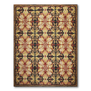 8'x11' Rust Black Gold, Beige, Multi Color Hand-Woven Asmara Needlepoint Aubusson Wool Traditional Oriental Rug
