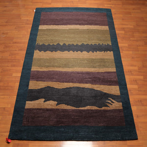 Tibetan Oriental Area Rug Hand Knotted 100% Wool Modern & Contemporary Tufenkian Look (8'x10')