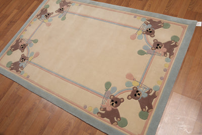 Wool Traditional Children Area Rug (4'x6')