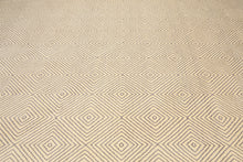 Oriental Hand-Knotted Wool Modern Geometric/ Graphic Design (10'x14')