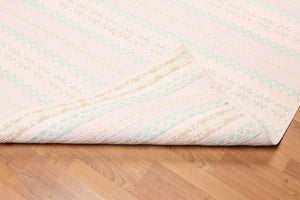 "Portugese Dhurry  Hand-Woven Cotton Modern pastel colors (4'7""x7'10"")"