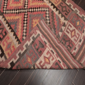 "Persian Oriental Area Rug Hand Knotted Wool Traditional Afghan Kilim Southwestern  (4'6""x15'5"")"
