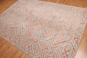 Oriental Hand-Knotted Wool Modern  (6'x9')