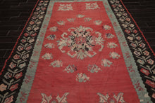 "Turkish Kilim  Oriental Area Rug Hand Woven 100% Wool Traditional Hand Woven Turkish Antique Kilim. In excellent condition Ready to use, Ptofessionally cleaned (7'1""x10'6"")"
