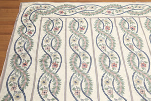 Needlepoint ChainStitch Hand Knotted Wool   (8'x10' )